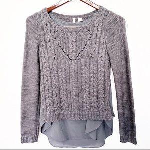 Anthropologie Moth sweater Ella layered pullover